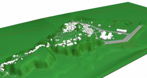 国土地理院の「基盤地図情報」をArchiCADに読み込んで作った江ノ島のBIMモデル