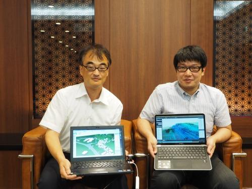 プロジェクトに挑戦したリビングCGの関良平代表取締役(左)とアドバンスドナレッジ研究所の黒岩真也氏(写真:家入龍太)