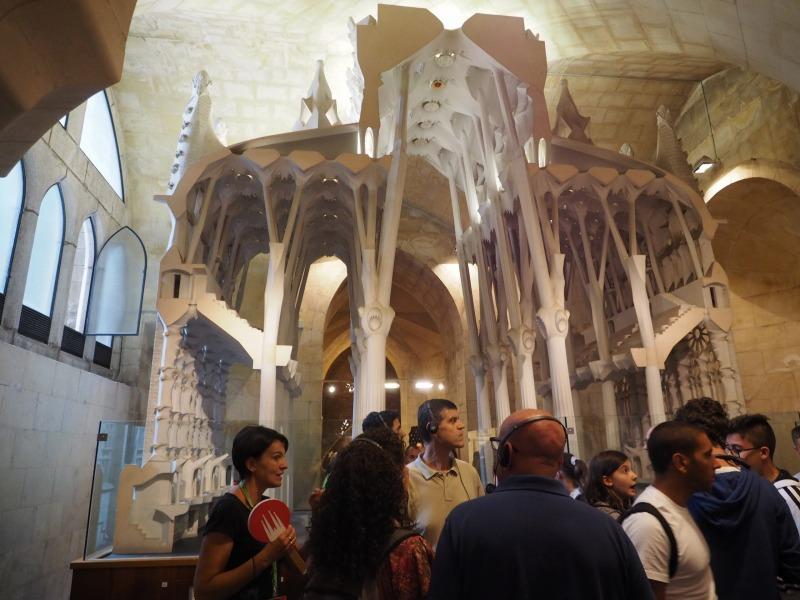 地下博物館に展示された大型模型。このほか、膨大な数の模型が展示されています