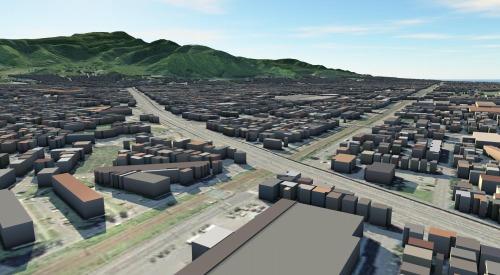 街を丸ごと3D化したCIMモデル(資料:岩崎)