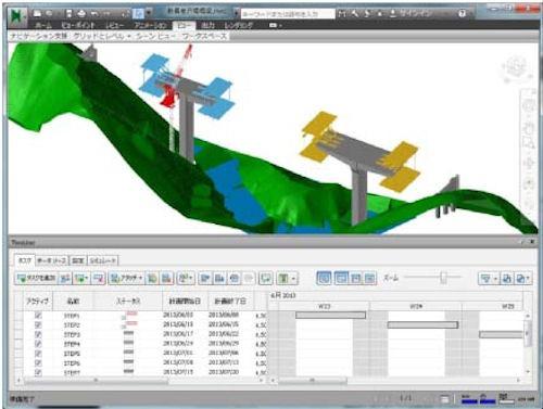 大成建設によるCIMと工程管理や原価管理の試行例
