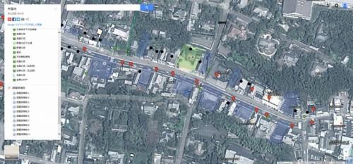 課題となった大分県杵築市の城下町全景(資料:Google, ZENRIN)