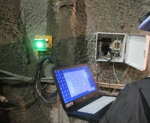 データロガーとLED警報信号