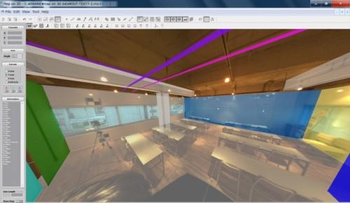 建物内部を撮影した全天球写真をトレース(資料:U's Factory)