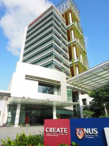 NRFのあるビル。国立シンガポール大学のキャンパスの一角に位置する(以下の写真:家入龍太)