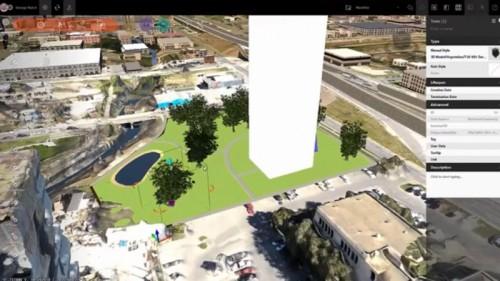 ドローンの写真から作成した3DモデルをCIMソフト「InfraWorks 360」に取り込んで設計した例