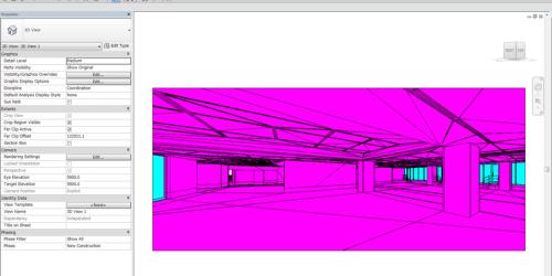 RhinocerosからDWG形式で書き出した3DモデルをRevitで読み込んだところ。面が三角形に分割され、しかもすべてのパーツが1つに固まっている(以下の資料:日本設計)