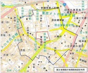 内閣関係の規制地域(資料:内閣府)