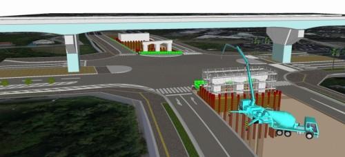 橋梁下部工の現場3Dモデル