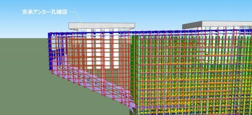 橋梁下部工の詳細な3D配筋モデル