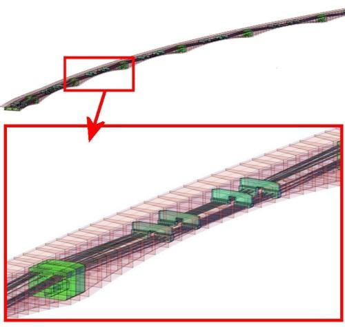 「SMC-modeler」によって橋梁の線形や断面の座標データから作った橋梁の3Dモデル(以下の資料:三井住友建設)