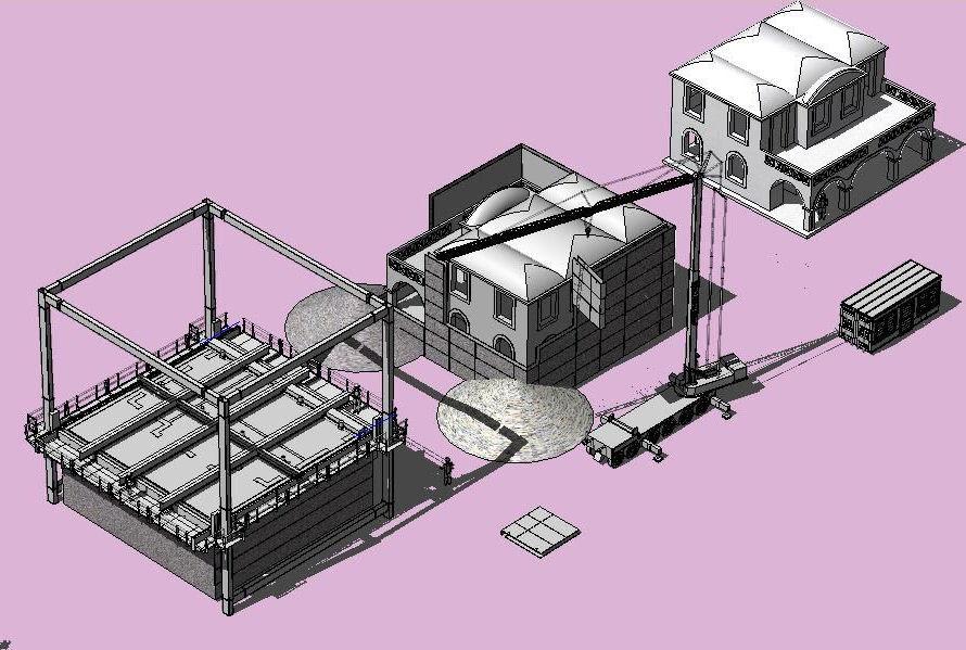 建物を丸ごと、何棟も連続して建てていくイメージ