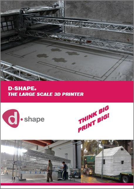 巨大3Dプリンター「D-SHAPE」のカタログ(特記以外の資料:MONOLITE UK LIMITED)