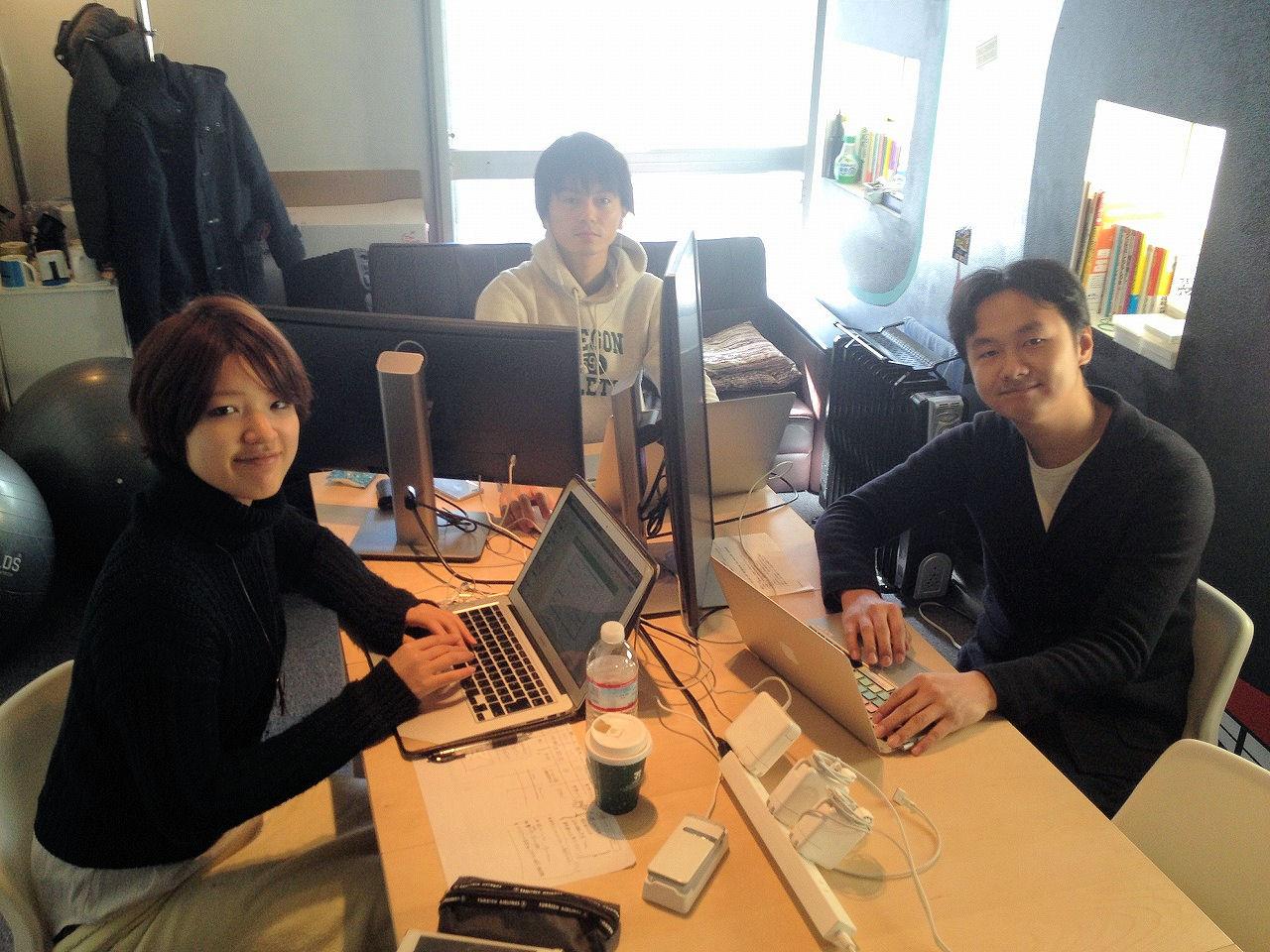 2015年1月のシェルフィーのオフィス。かなり手狭だった(写真:家入龍太)