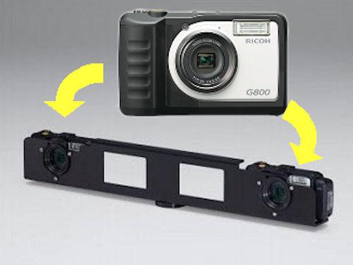 2台の「RICOH G800」で3D計測を行う「RICOH G800 ジオショット 3D キット シリーズ」