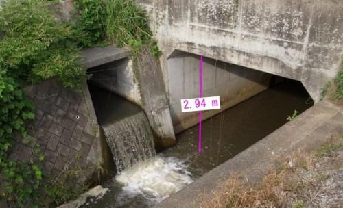 橋梁の桁下を計測した例