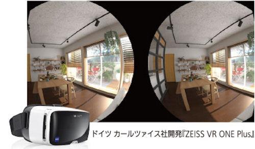 VRゴーグルによる立体視