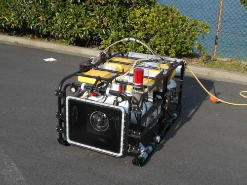 水中インフラ点検ロボット「ディアグ」(以下の写真、資料:大林組)