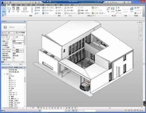 日本初のBIMモデルによる建築確認申請用テンプレート。建物のデータは申請に使われたものとは異なります(資料:フリーダムアーキテクツデザイン)●