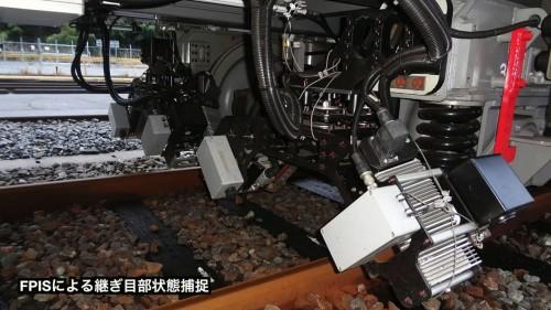 継目板を撮影・計測する継目板検査装置(FPIS)