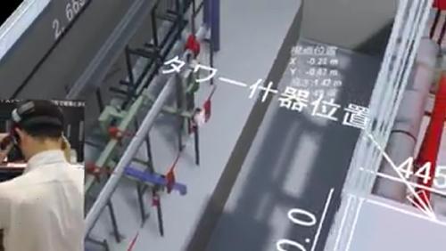 床面を見ると什器の設置位置が描いてある