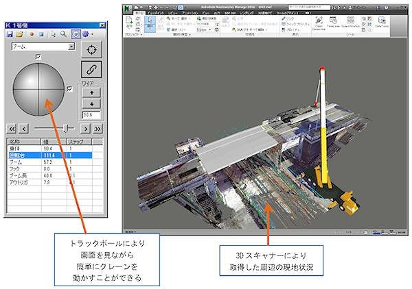 橋梁撤去・架設の3Dシミュレーションツール(以下の資料:安藤ハザマ)