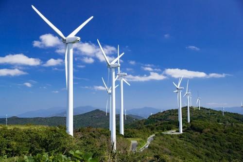 北海道内の風力発電所の完成予想図(以下の資料、写真:テラドローン)