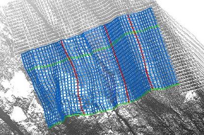 コンクリートの体積計算に使われた法枠の3Dモデル