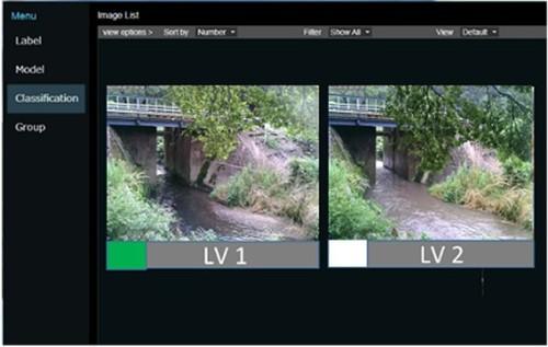 水害対策支援システムの画面イメージ(資料:茨城大学、NEC)