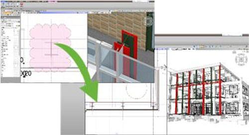 複数のBIMモデルを並べて比較検討できる「デザイン比較」機能