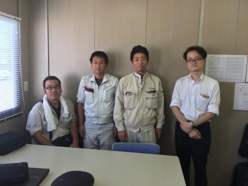 道路工事現場でのHoloLens活用実証実験に参加したメンバー
