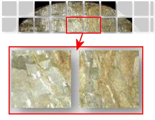 切り羽の写真は227ピクセル角に分割し、細かい領域ごとに評価できる