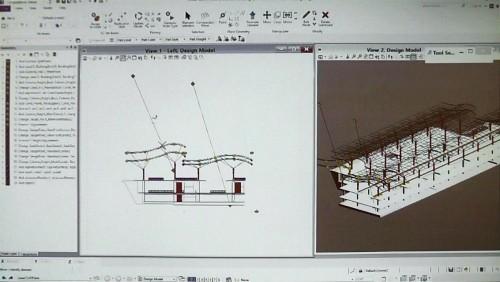 そのデータを引き継ぎ、施工に向けて、さらに設計を詳細化しているところ