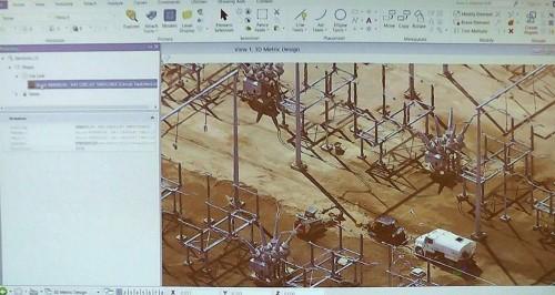 ContextCaptureで作成した変電所の3Dモデル