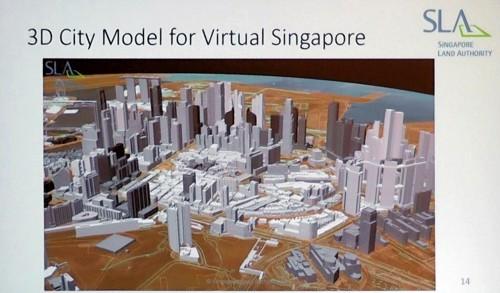 シンガポールを丸ごと3Dモデル化した「バーチャル・シンガポール」もリアリティー・モデリングの一例だ(資料:SLA)