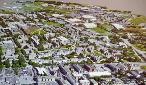 ペンシルベニア州立大学のキャンパス全体を3Dモデル化した例(資料:Penn State)