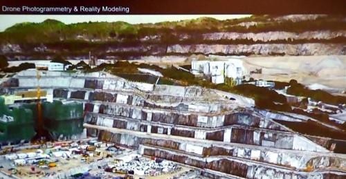 40ヘクタールの造成工事現場の3Dモデル(資料:CEDD-AECOM)
