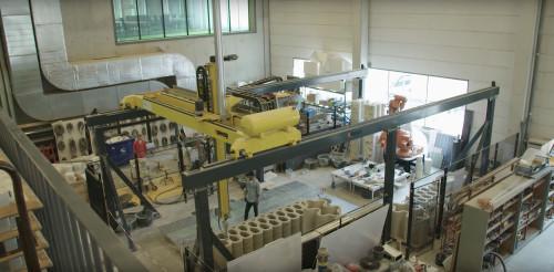アイントホーフェン工科大学にある3Dコンクリートプリンター(以下の写真:BIM InfraのYouTube動画より)