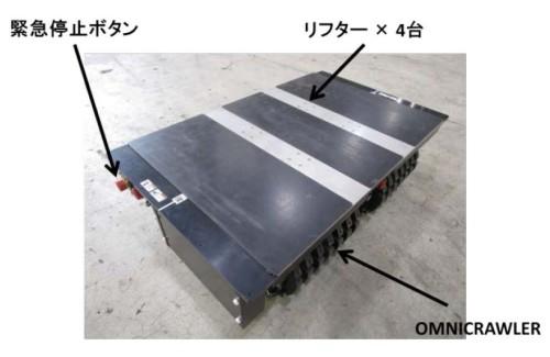 「OMNICRAWLER」を採用した全方向クローラー型搬送支援ロボット「クローラーTO」の構造(以下の資料:竹中工務店、岡谷鋼機、トピー工業)