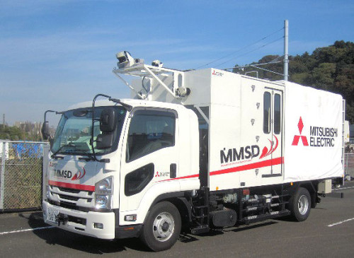 「三菱インフラモニタリングシステムII」の計測車両(以下の写真、資料:三菱電機)