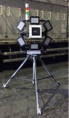 照明付きのカメラ