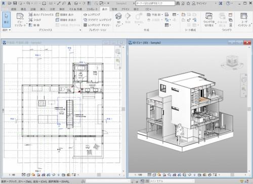 木造3階建て住宅のBIM確認申請に開発されたRevit用テンプレート(以下の資料:フリーダムアーキテクツデザイン)