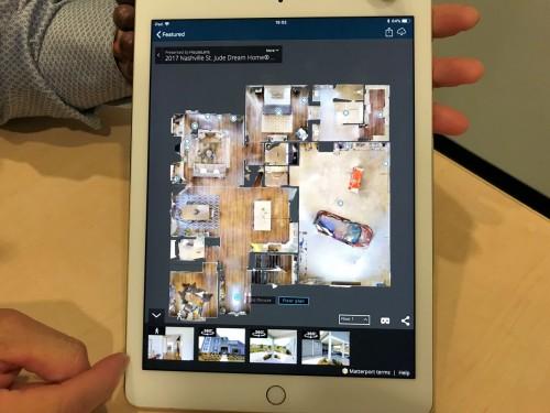 室内を真上から見たオルソ画像。平面図として使える