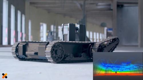 3Dレーザースキャナーによる点群計測作業