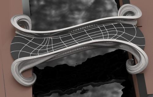 飾り窓地区の運河に設置された橋桁のイメージ(資料:Courtesy of Joris Laarman Lab)