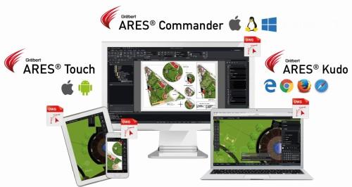 同じDWG形式の図面ファイルを、デスクトップ、ノートパソコン、タブレット、スマホなどで使える(資料:グレバートジャパン)
