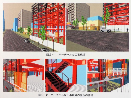BIMモデルで表現した現場の例(以下の資料:「建築工事における施工シミュレータ」より)