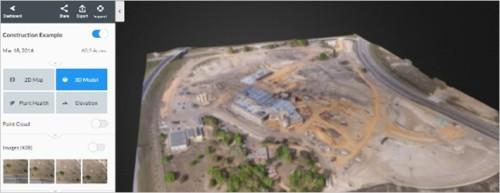 「DroneDeploy」クラウドで作成された3D地図