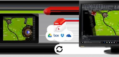 DWGファイルのクラウド連携イメージ
