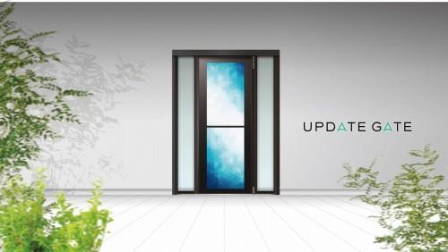 未来ドア「UPDATE GATE」の外観イメージ(以下の写真、資料:YKK AP)